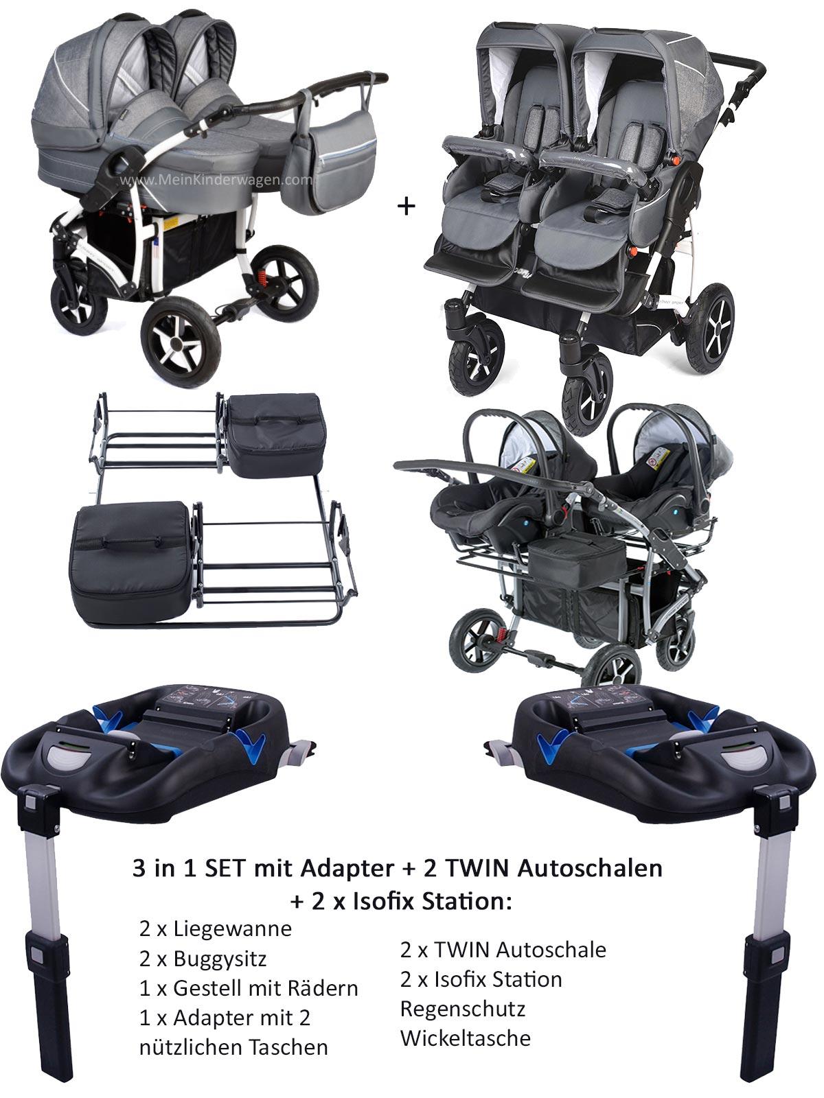 zwillingskinderwagen zum top preis. Black Bedroom Furniture Sets. Home Design Ideas