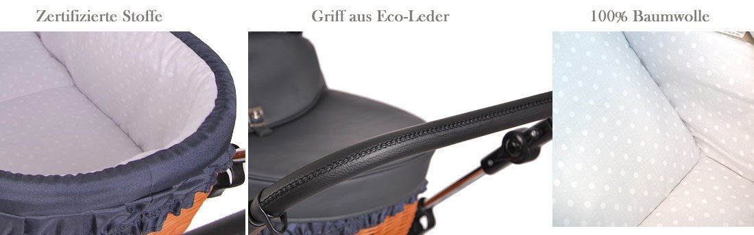 Kinderwagen Retro Deluxe in Eco Leder