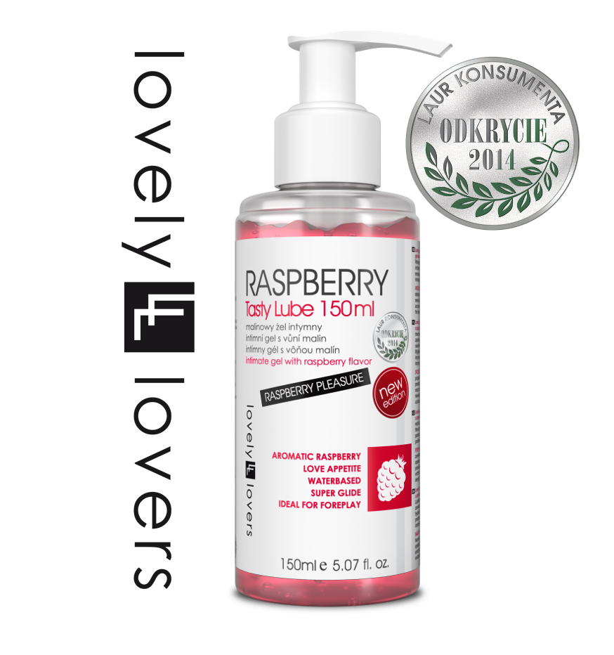 lovely lovers raspberry tasty lube malinowy