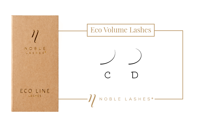 Eco Volume Lashes, rzęsy, Noble Lashes, skręty rzęs