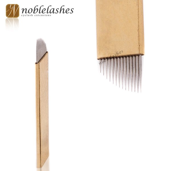 Złote piórka do microbladingu Noble Lashes