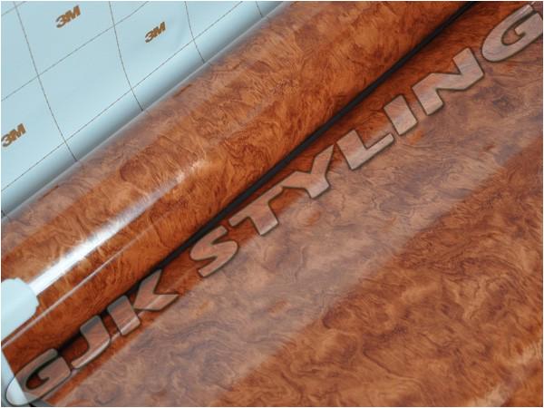 3m di noc wurzelholz folie glanzend wg 364gn 30x100cm ebay for Folie von kuchenfronten entfernen
