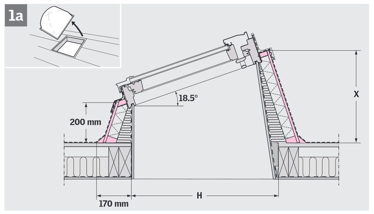Dachfenster detail flachdach  Flachdachfenster VELUX ECX FlachdachSystem - Flachdach-fenster ...