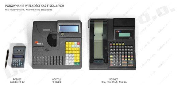 porównanie wielkości kas fiskalnych 4