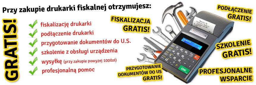 Drukarki fiskalne - serwis gratis