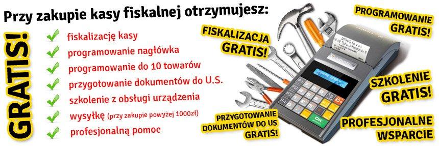 Kasy fiskalne serwis gratis