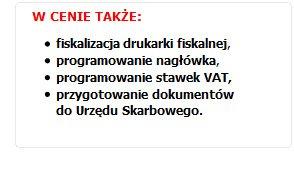 Usługi serwisowe przy zakupie drukarki fiskalnej w DOTKOM - GRATIS