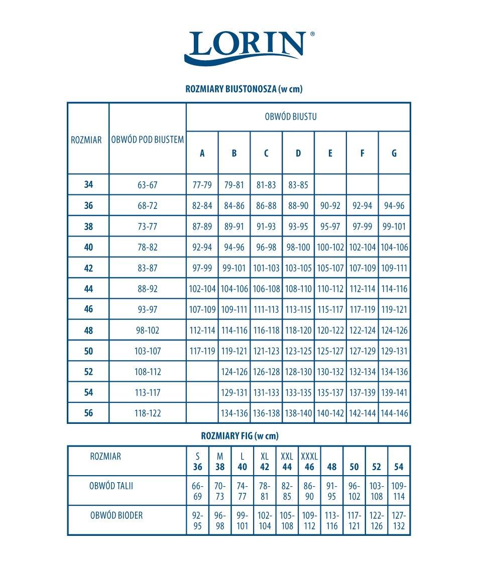 Lorin tabela rozmiarów