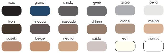 Gabriella tabela kolorów
