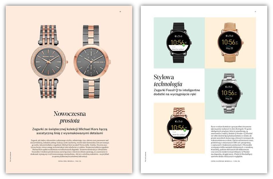 Zegarki Michael Kors i Fossil Q w magazynie L'Officiel