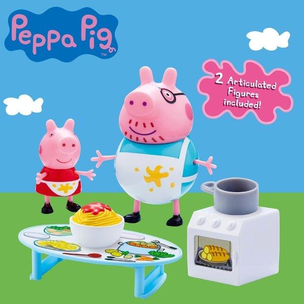 świnka Peppa Pig Tata świnka Gotowanie Kuchnia Figurki