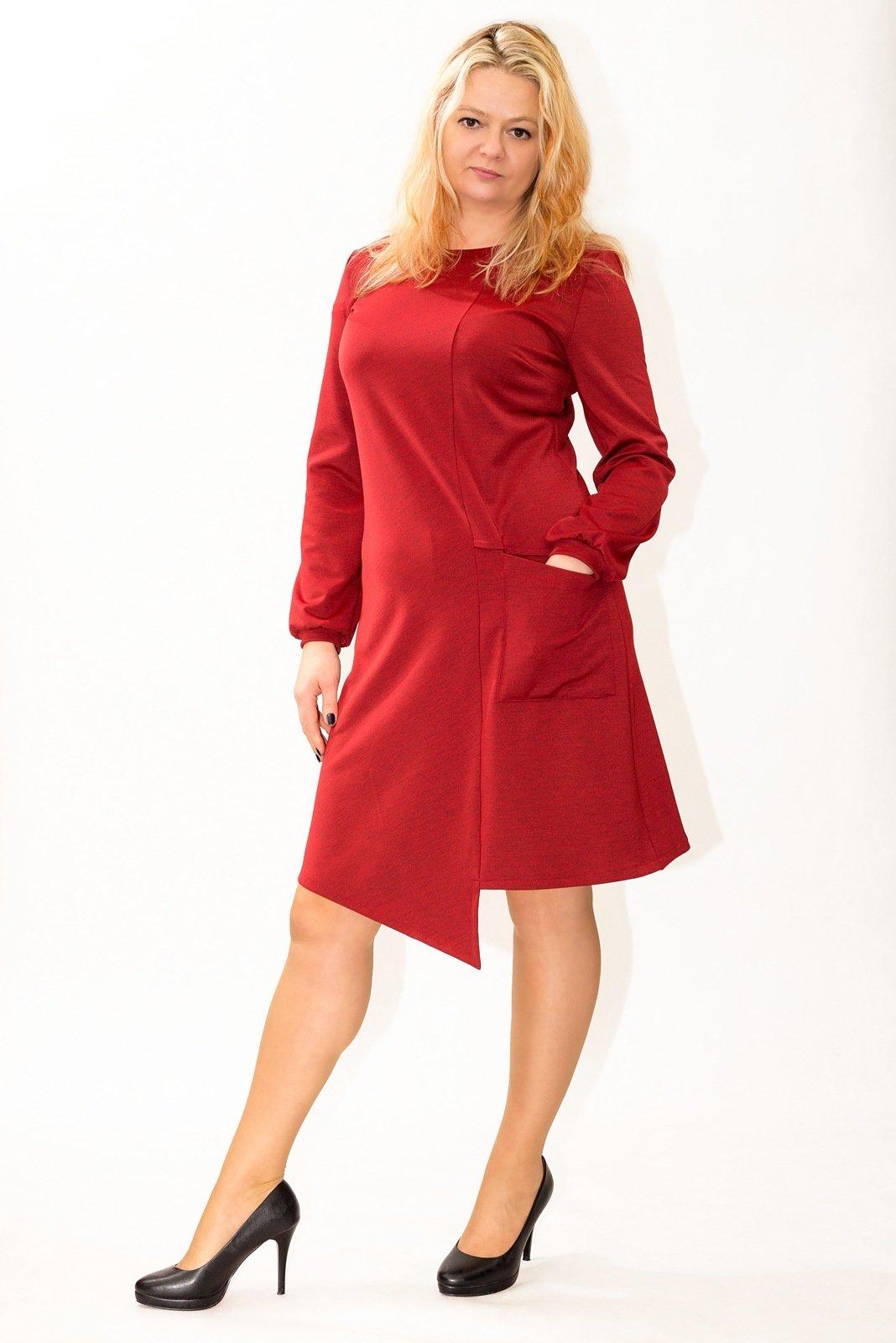 edbe7a7878 Sukienki PLUS SIZE do kolan dla puszystych - eleganckie sukienki ...