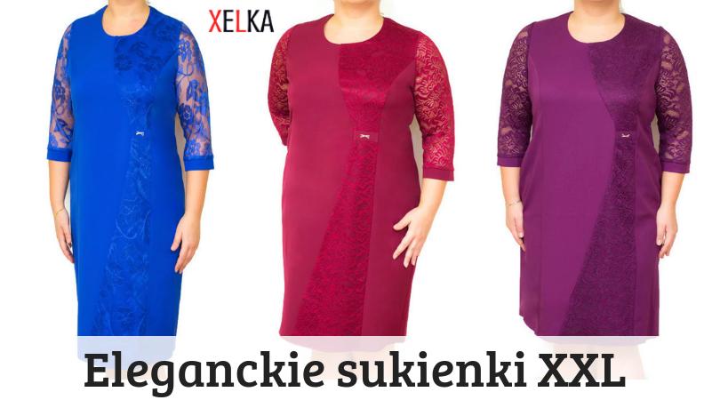 fc331fceea Elegancka sukienka PLUS SIZE MIRANDA 46-54 na wesele Duże rozmiary