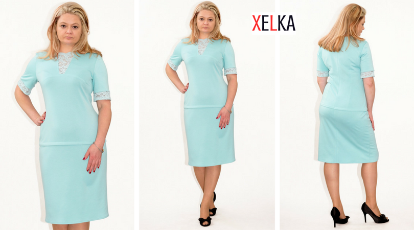 0fc4ed393e Eleganckie sukienki XXL CHARLIE duże rozmiary 40-60