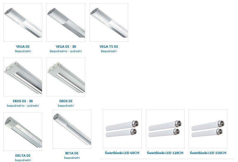 Oświetlenie biurowe lampy biurowe oprawy systemowe