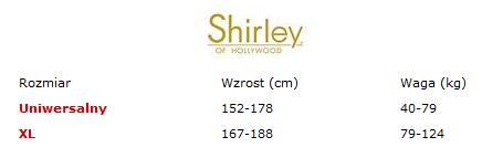 Shirley Of Hollywood tabela rozmiarów