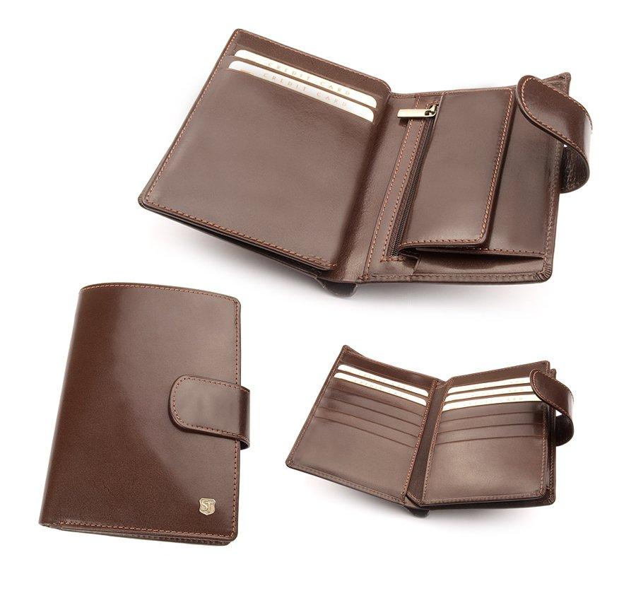 f4dfa3168ad26 Duży męski portfel z zapięciem na paseczek z zatrzaskiem. Bardzo  praktyczny