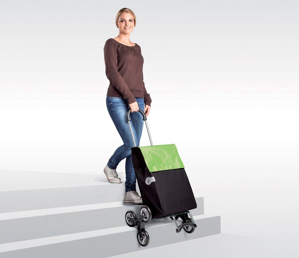 Sześciokołowy wózek na zakupy, do wchodzenia po schodach