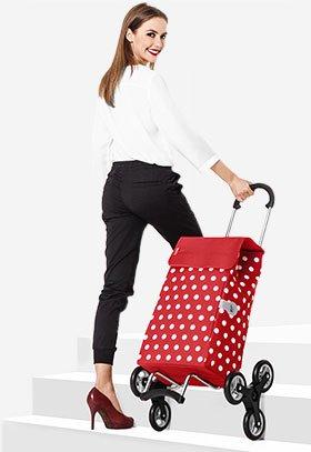 Sześciokołowy wózek na zakupy na schody