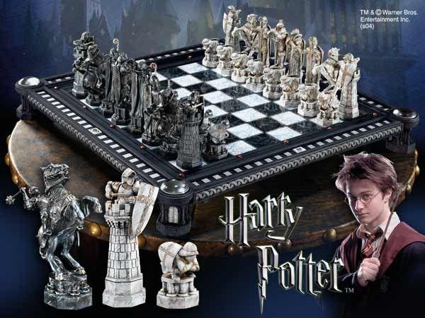 Ekskluzywne wydanie szach z filmu Harry Potter