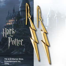 Elegancka biżuteria z filmu Harry Potter - kolczyki w kształcie błyskawic