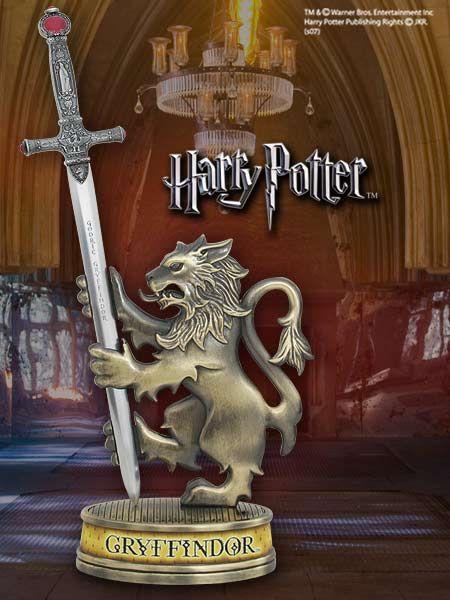 Nóż do listów w kształcie miecza Godryka Gryffindora wraz z elegancką podstawą z lwem - Harry Potter