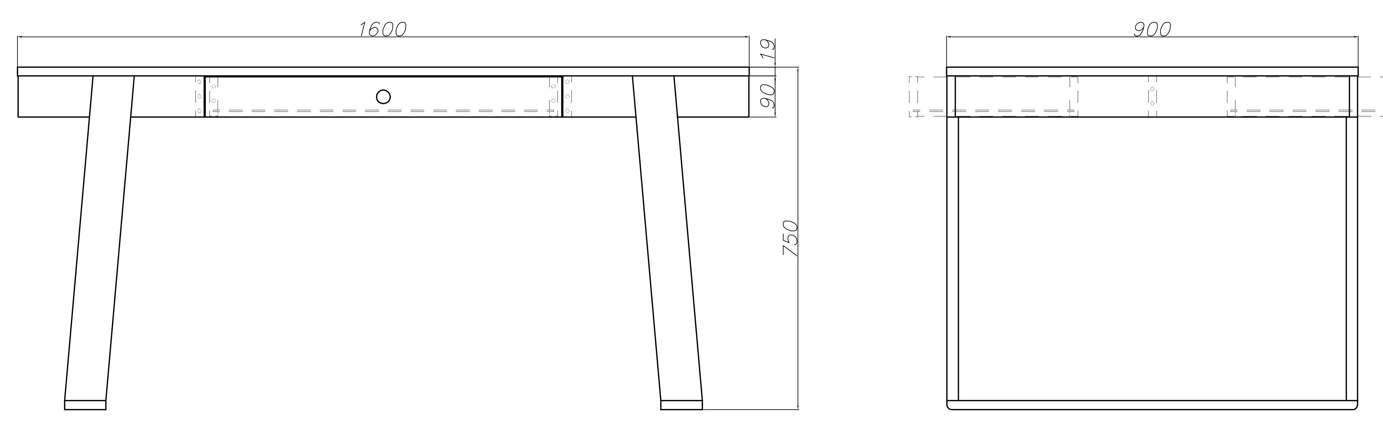 Magh - designerski stół średni