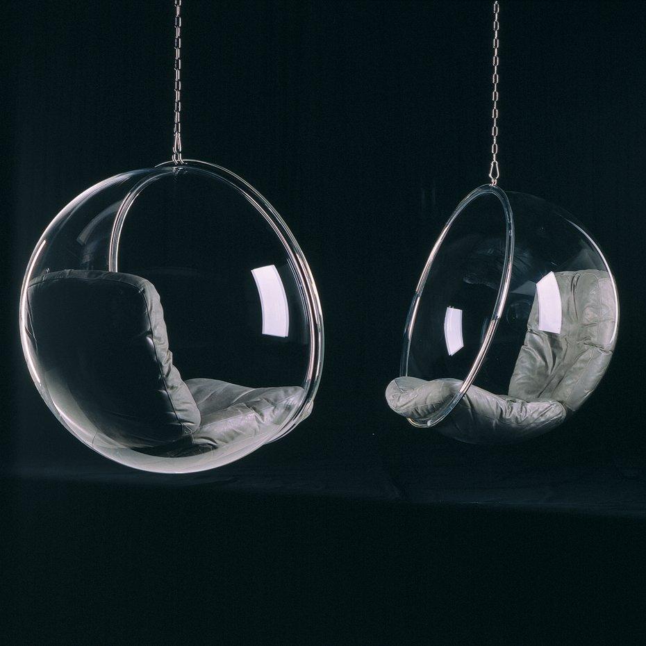 Designerski wiszący fotel Eero Aarnio Bubble Chair