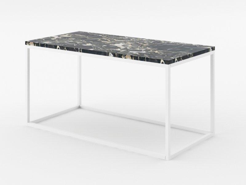 Piękne lekkie stoliki z marmurowym blatem