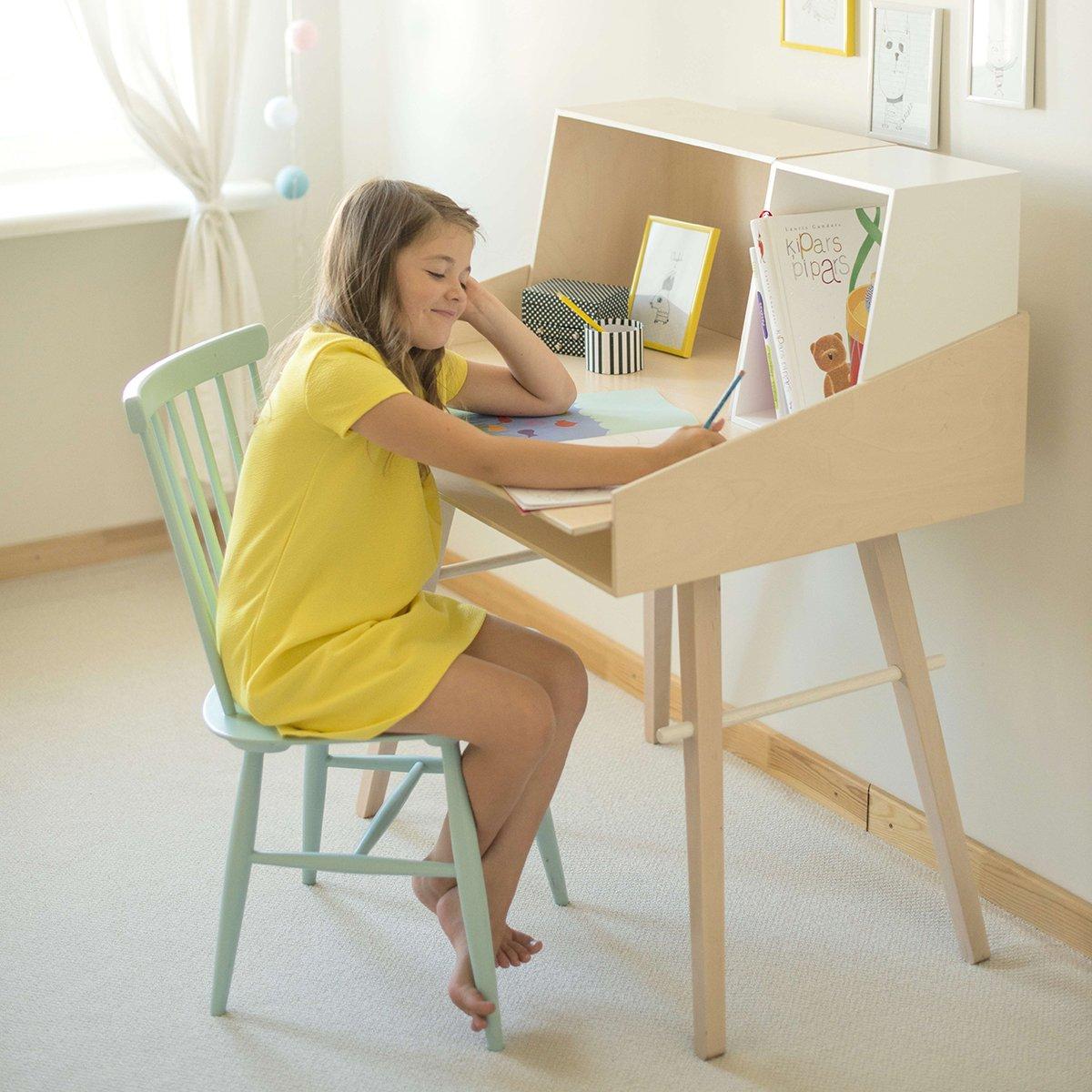 SO:LO nowoczesne drewniane biurko dziecięce
