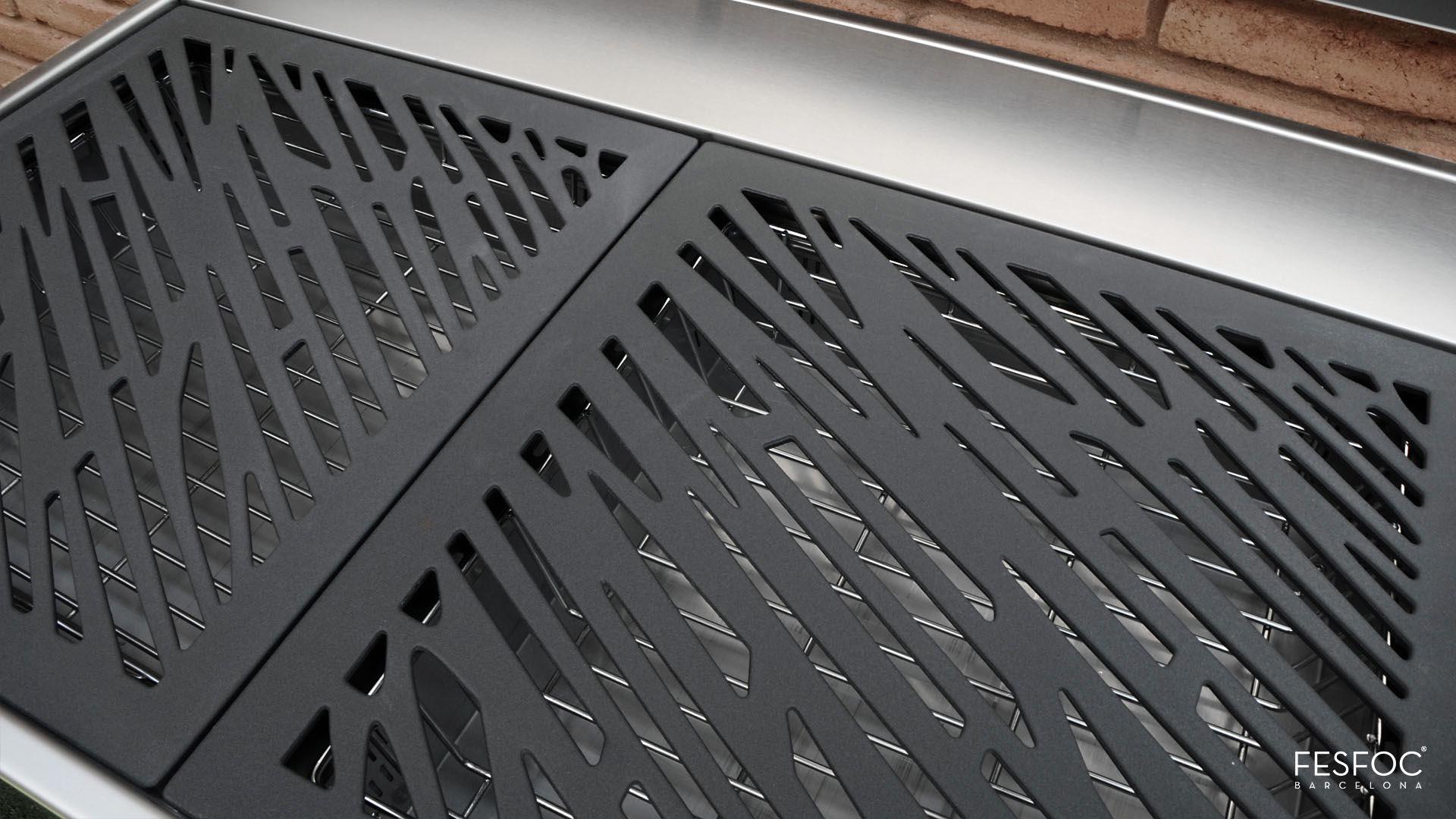 Grille Krakatoa w wersji Elegance z kratką ze stali żeliwnej