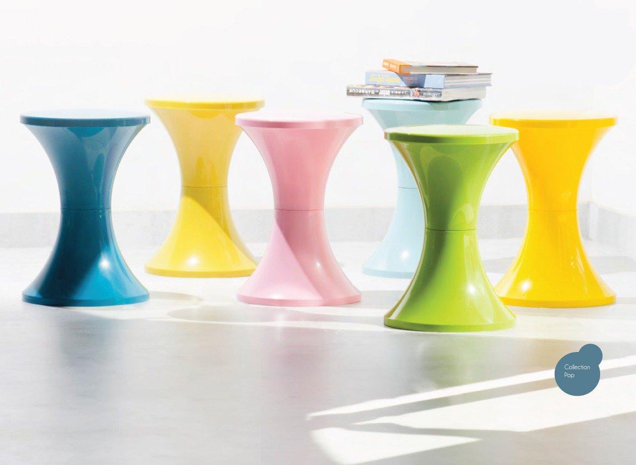 Stylowe stołki Tam Tam Pop dostępne są także w odcieniach zieleni