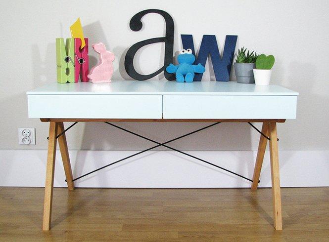 Stylowe biurko do pokoju dziecięcego Minko Kids