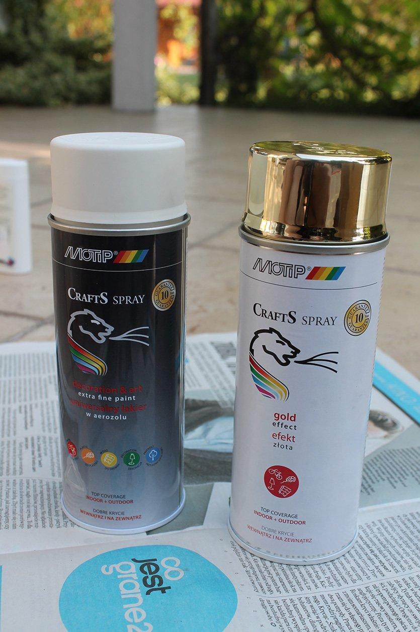 Farby w sprayu do projektów DIY