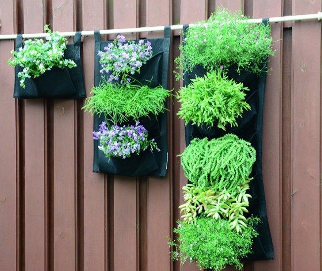 piękne ekologiczne doniczki kieszeniowe na zielone ściany