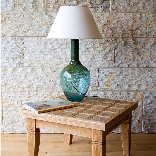Designerska szklana lampka nocna