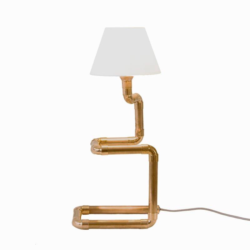 Lampka nocna w stylu industrialnym