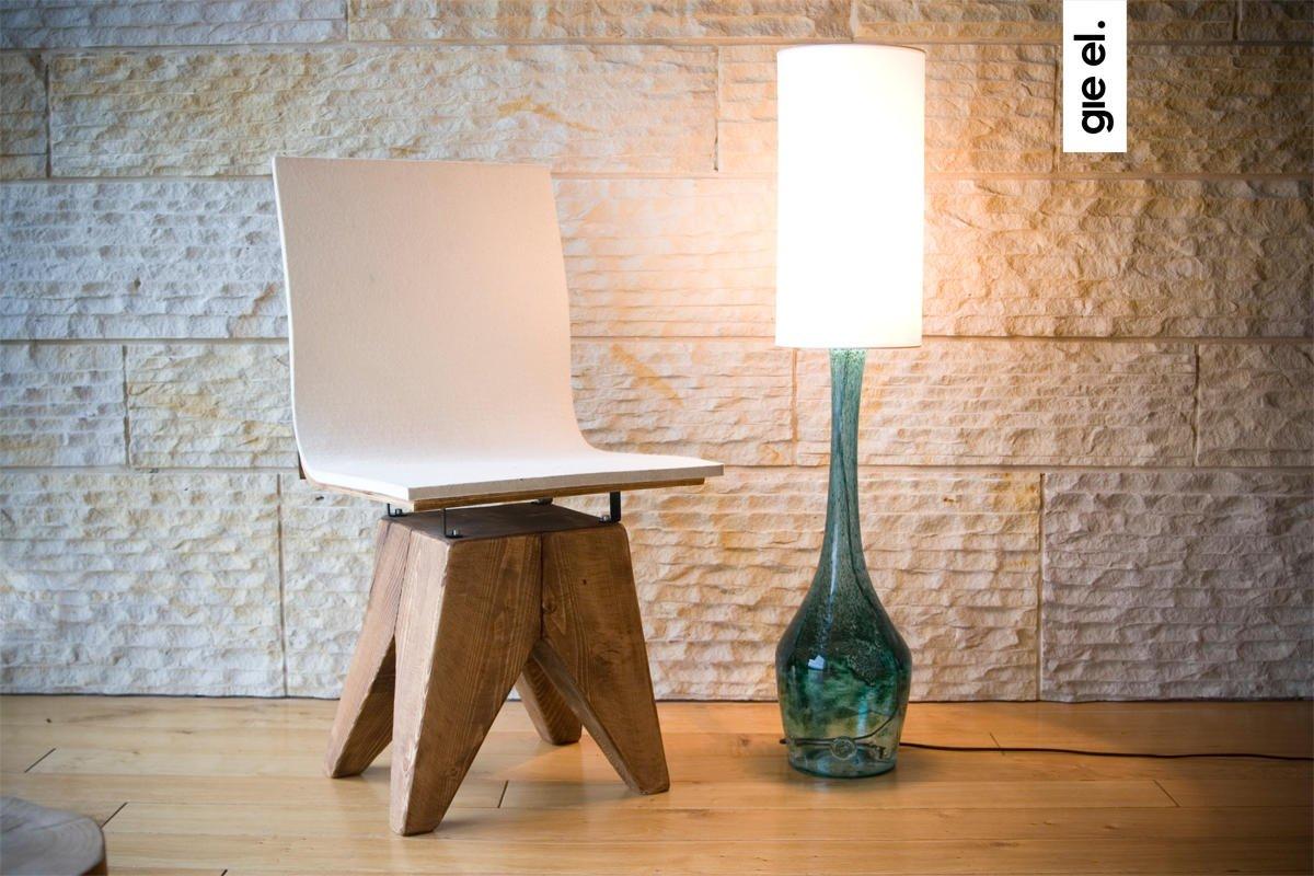 Designerska industrialna lampa podłogowa