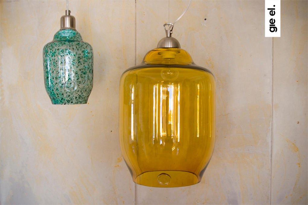 Nowoczesne szklane lampy wiszące w stylu industrialnym