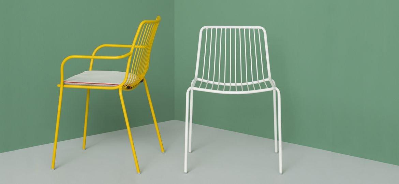 Stylowe krzesła do wnętrz i ogrodów Nolita Pedrali