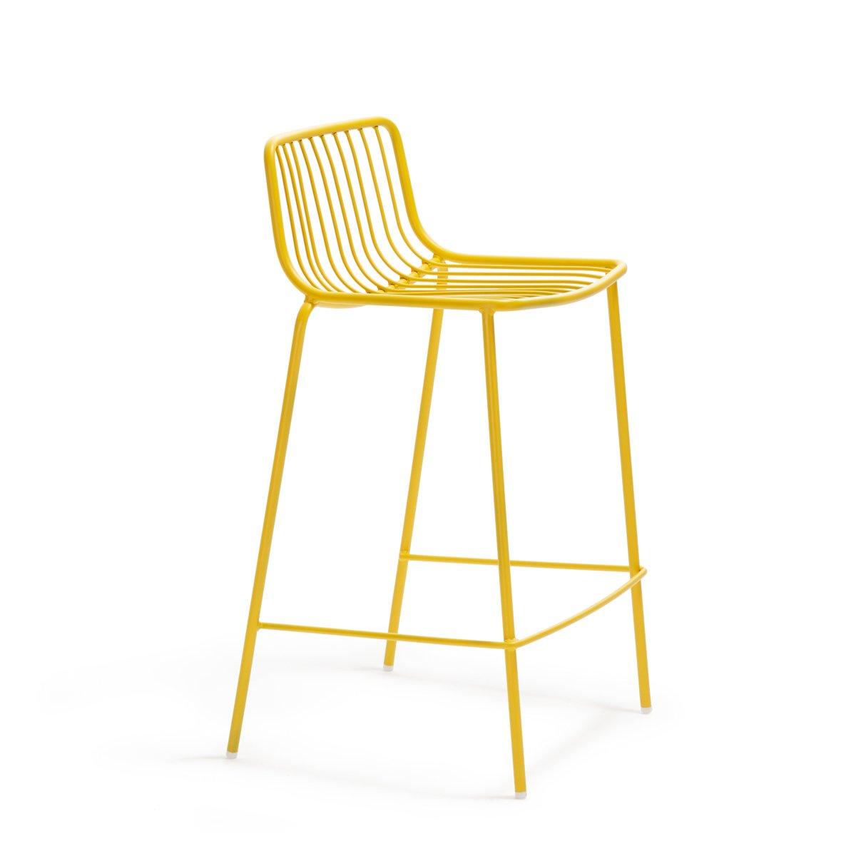 Designerskie zewnętrzne stołki barowe metalowe Nolita