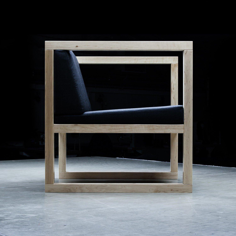 Designerski fotel Tapicerowany Reft
