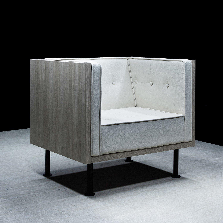 Designerski fotel F4 Reft jasny