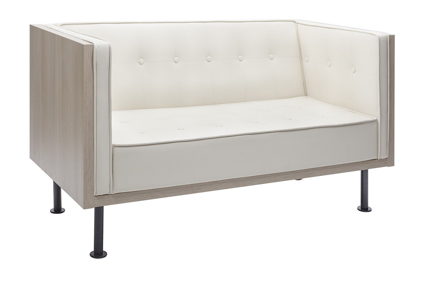 Designerska sofa z drewnianą obudową S4 Reft
