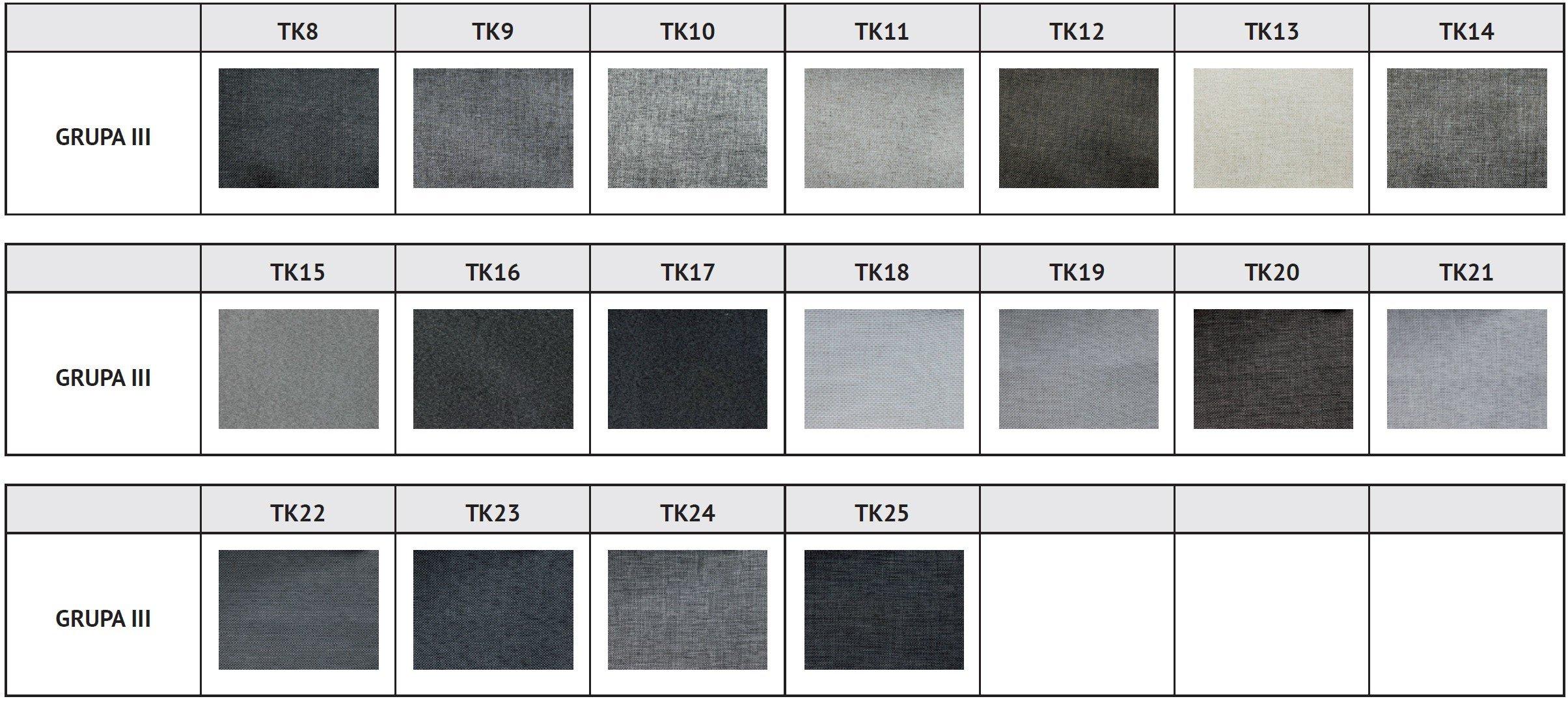 Designerski fotel Reft tapicerowany tkaniny grupa 3