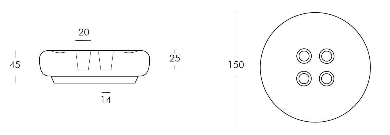 Bot One nowoczesne siedzisko z wbudowanym oświetleniem Slide
