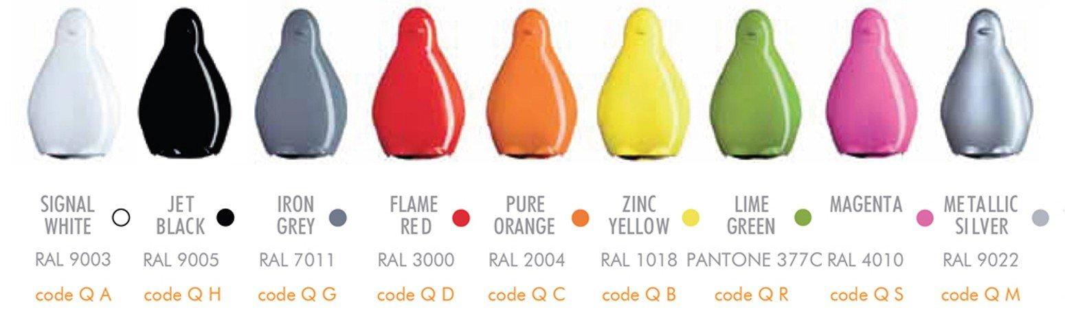 Designerskie meble ogrodowe Slide kolory lakierowane