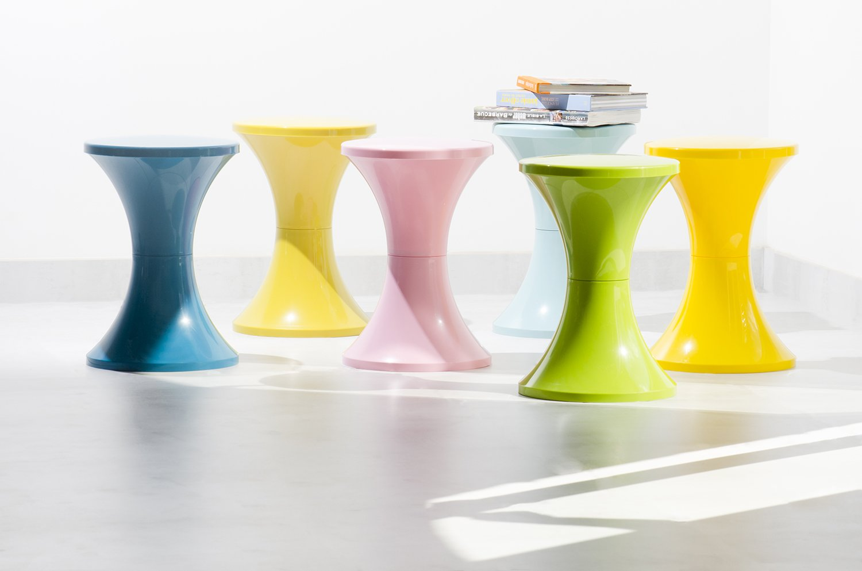 Tam Tam Pop - piękne stołki w żywych kolorach