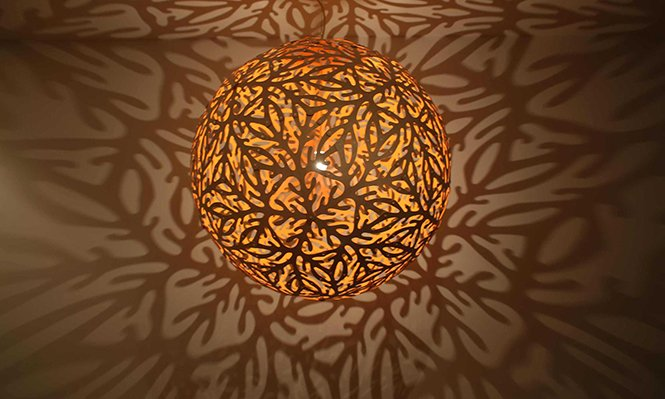 Stylowa lampa wisząca Sola David Trubridge