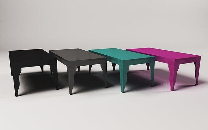 Stylowe stoliki błyszczące do salonu